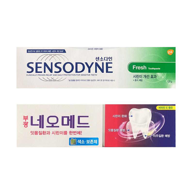 센소다인 후레쉬 치약 120g + 부광약품 네오메드 시린이치약 125g, 1세트 (POP 5233421653)