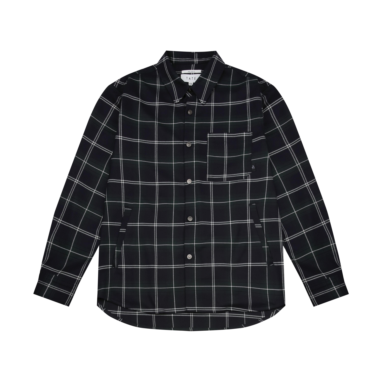 테이트 남성용 오버핏 트랜디 체크 셔켓 KABS1-MGJ06