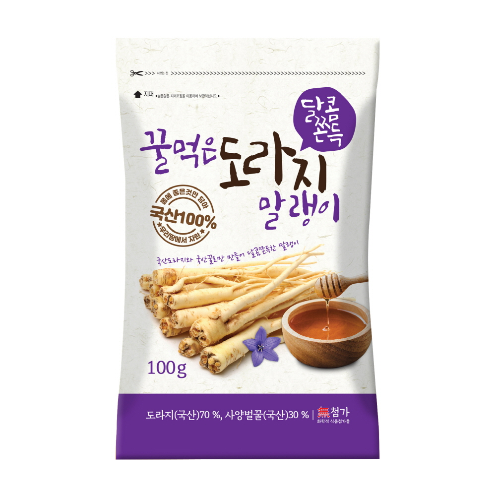 [Gold box] 꿀먹은 도라지 말랭이, 100g, 1개 - 랭킹11위 (9800원)
