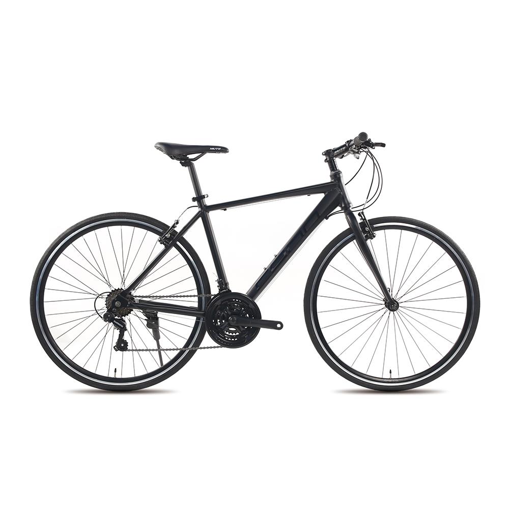 지오닉스 2021년형 카노21 시마노 21단 브이 브레이크 알로이 하이브리드 자전거, 매트블랙 + 블랙, 170cm