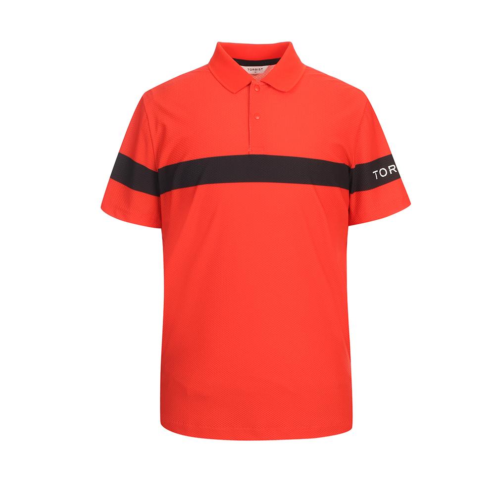 톨비스트 남성용 소매 로고 에리 티셔츠 GABU3-MKE430
