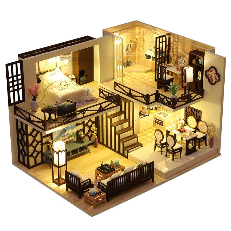 꼬미딜 DIY 미니어처하우스 2020-67 오리엔탈 부티크 + 제작도구, 혼합색상