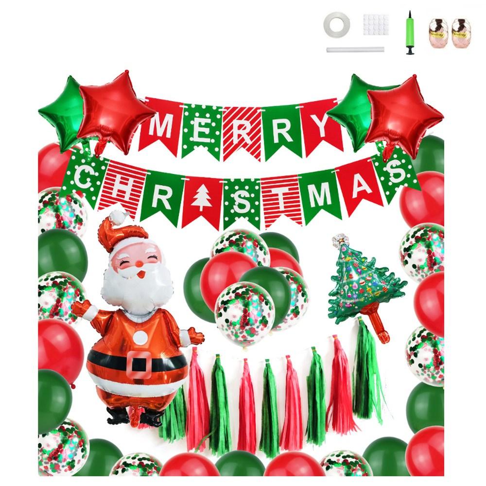 미니띠네 크리스마스 산타 혼합 파티 세트, 혼합색상, 1세트