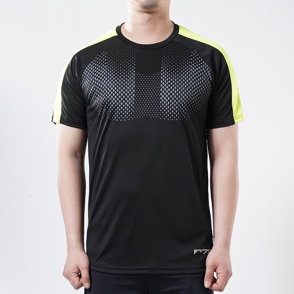 아르꼬 남성용 쿨 스트레치 펀칭 메쉬 도트 포인트 테크핏 반팔 라운드 티셔츠