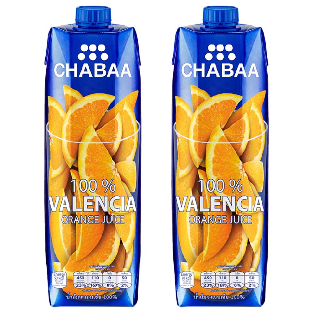 차바 발렌시아 오렌지주스, 2개, 1000ml