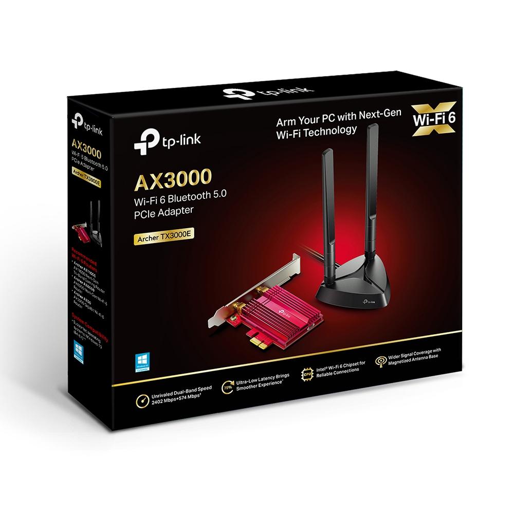 티피링크 Wi Fi 6 블루투스 5.0 PCIe 랜카드 데스크탑용, Archer TX3000E