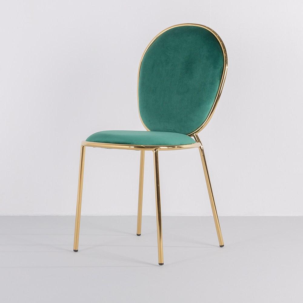 [가구느낌] 어반골드체어 디자인의자 식탁 카페 벨벳, 04_어반골드체어-그린