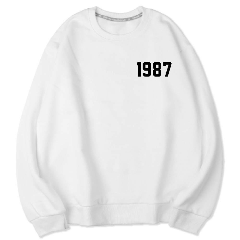 벤힛 1987 세미 오버핏 소프트 기모 맨투맨