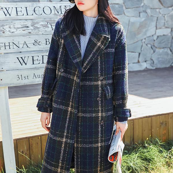 루나걸 여성용 윈터 모직 코트