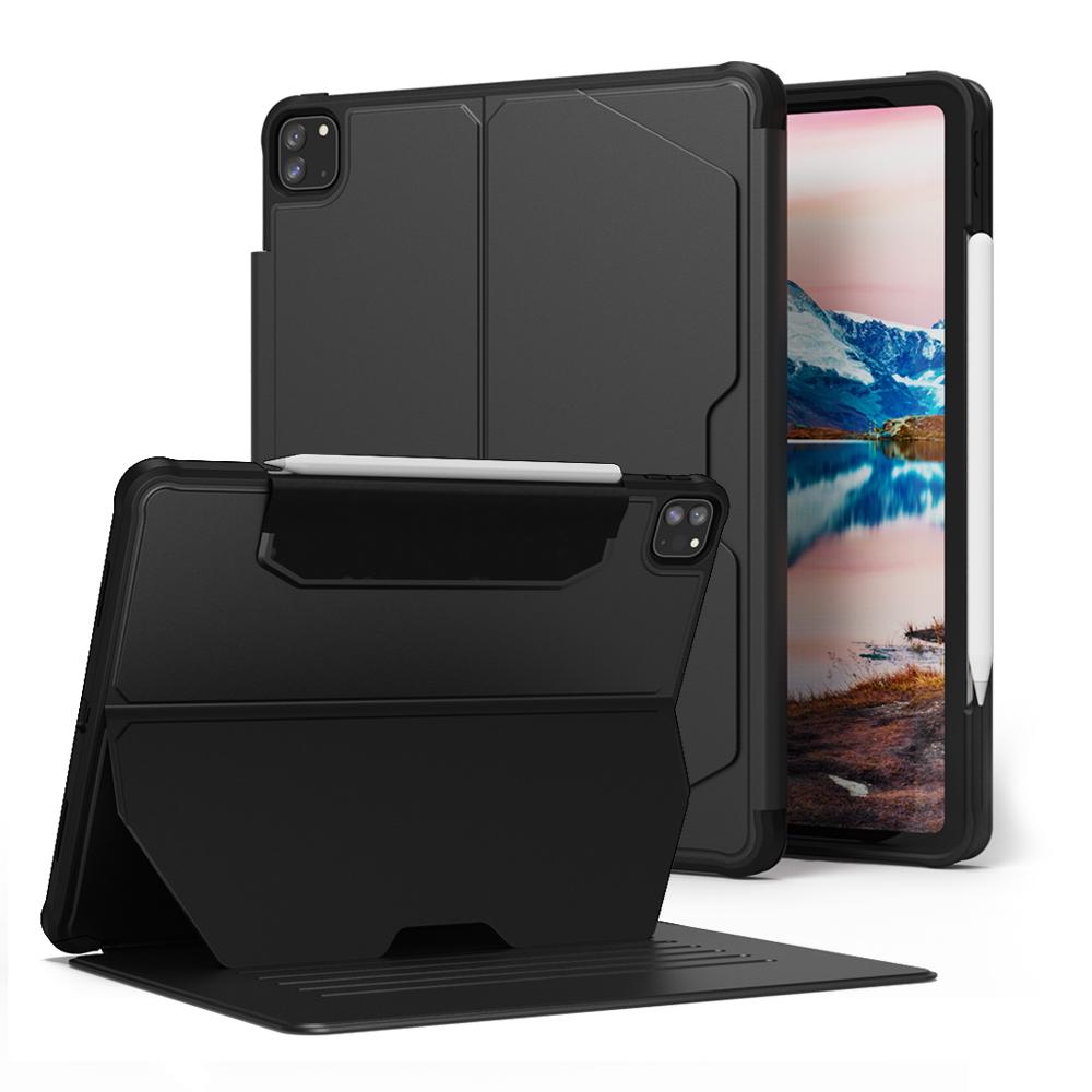 빅쏘 애플 펜슬 수납 스마트 커버 태블릿 케이스, 블랙-24-5643828655