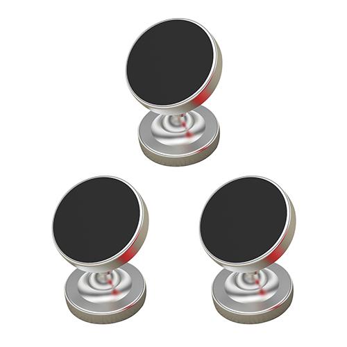 [마그네틱 거치대] 더블디 차량용 마그네틱 스마트폰 거치대, 메탈실버, 3개 - 랭킹34위 (12480원)
