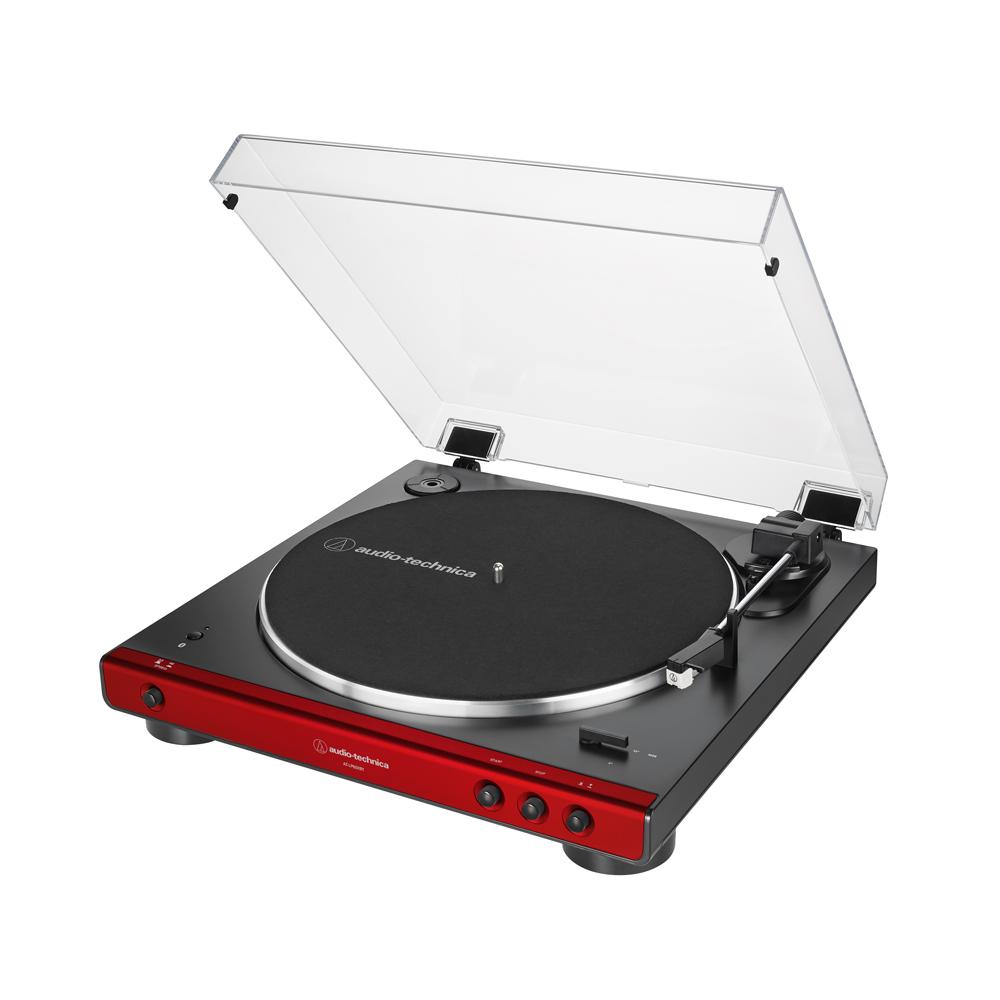 오디오테크니카 입문형 완전 자동 벨트 드라이브 무선 블루투스 턴테이블 레드, AT-LP60XBT