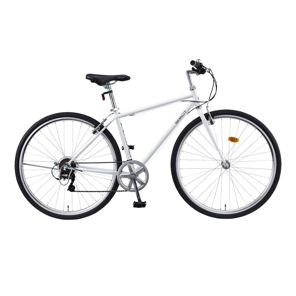 레스포 스팩트 7단 700C 하이브리드 440 자전거 + 무료 조립 쿠폰, 화이트, 164cm