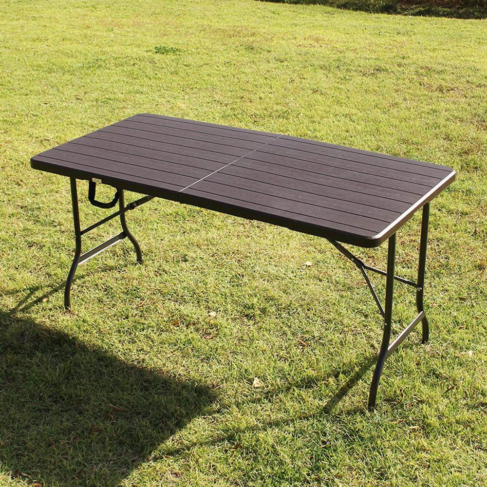 [테이블 1500] 위드퍼니처 아르망 1500 브로몰딩 접이식 테이블, 브라운 - 랭킹4위 (52900원)
