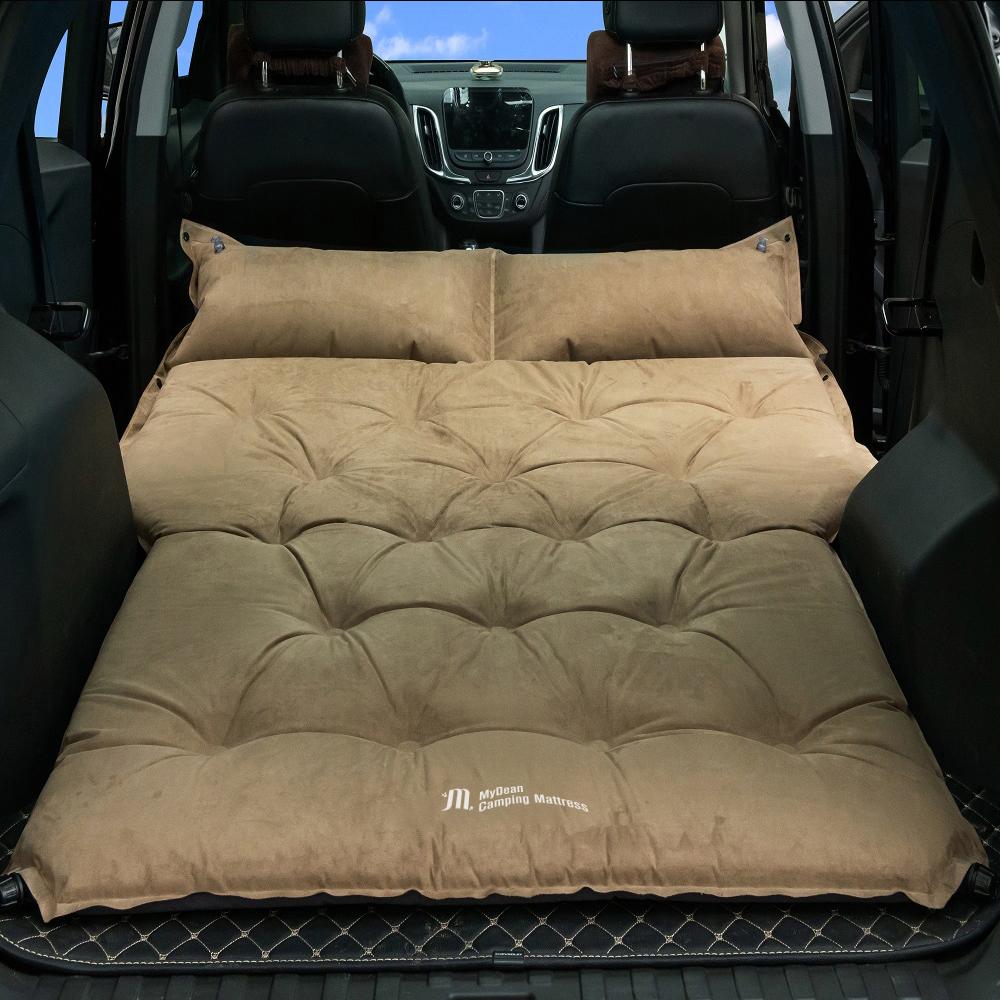 마이딘 차박 캠핑 스웨이드 자충매트 2인용 MCM-02, SUV, 카키