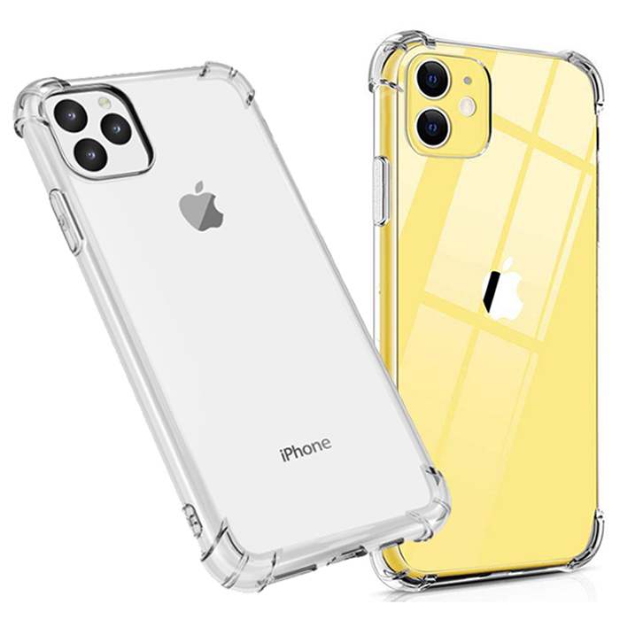 퀵핀 아이폰 시리즈 클리어 범퍼 젤리 휴대폰 케이스 2p