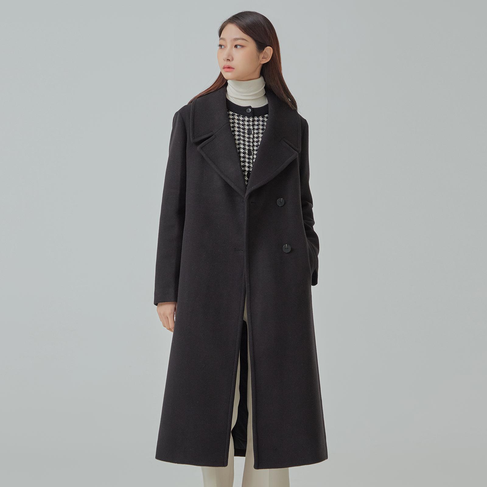미쏘 여성용 슬림핏 반더블 롱 코트