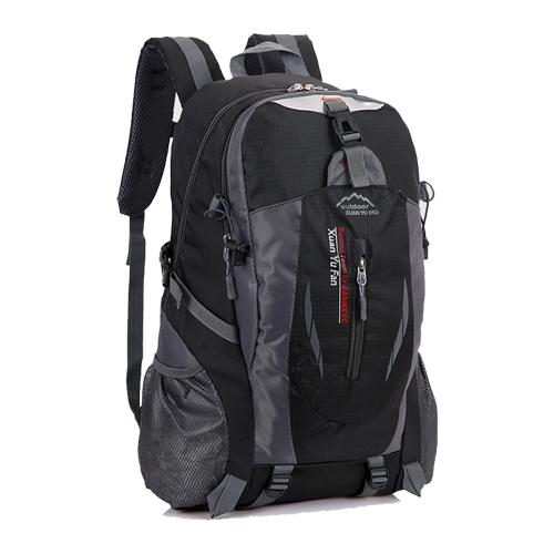 가벼운 소형 등산 캐쥬얼 백팩 35L, 블랙