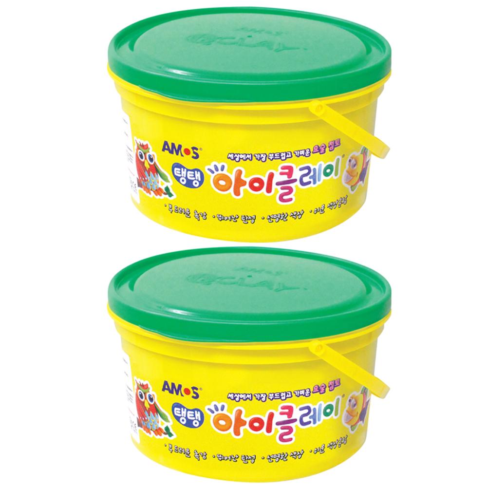 아모스 대용량 유아용 아이클레이 2p, 초록, 600g