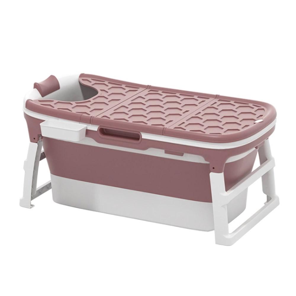 몽돌 접이식 반신욕조 대, 핑크(NL118), 1개