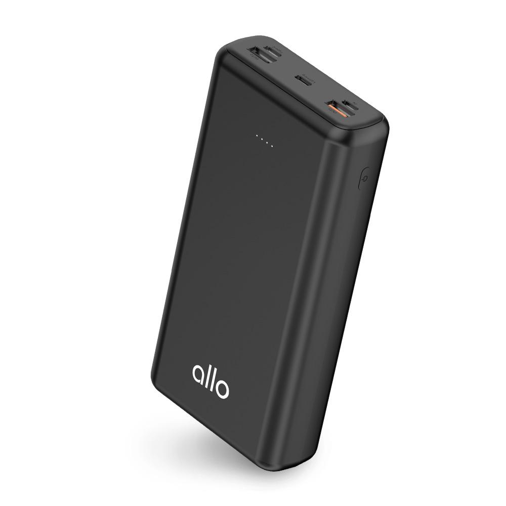 알로코리아 USB PD 퀵차지3.0 고속 충전 보조배터리 30000mAh, 3000PD, 블랙