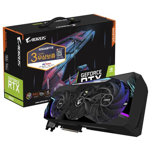 기가바이트 AORUS Master 지포스 RTX 3090 D6X 24GB 그래픽카드 피씨디렉트
