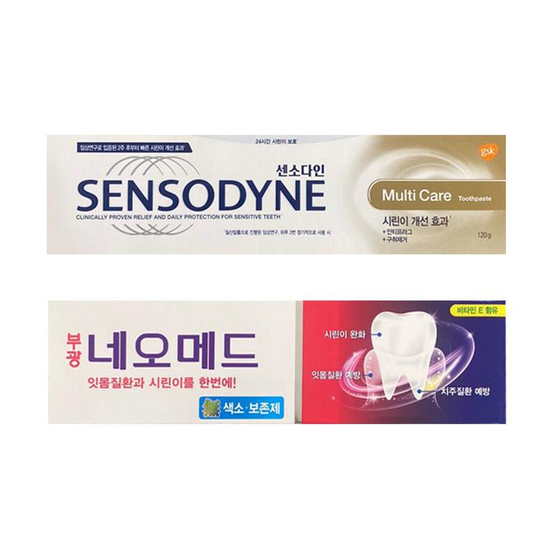 센소다인 멀티케어 치약 120g + 부광약품 네오메드 시린이치약 125g, 1세트 (POP 5233421593)
