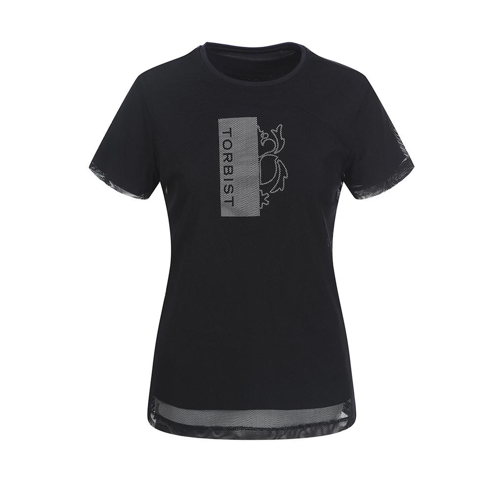 톨비스트 여성용 메쉬 라운드 티셔츠 GABU3-WKE450