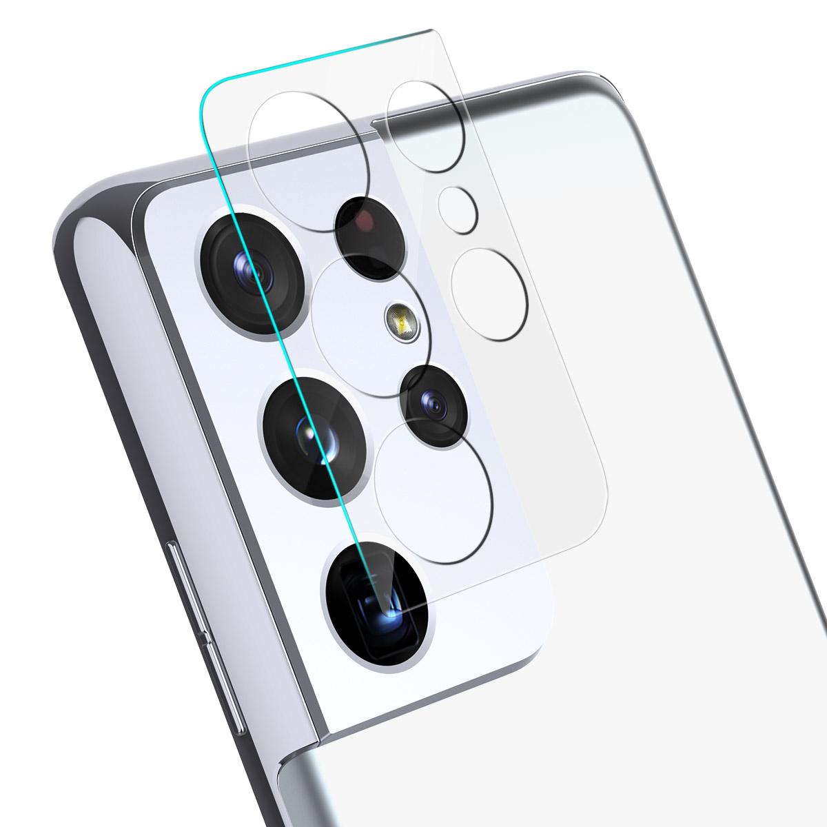 아라리 C서브 강화유리 휴대폰 카메라 렌즈 보호필름 2p 세트, 1세트