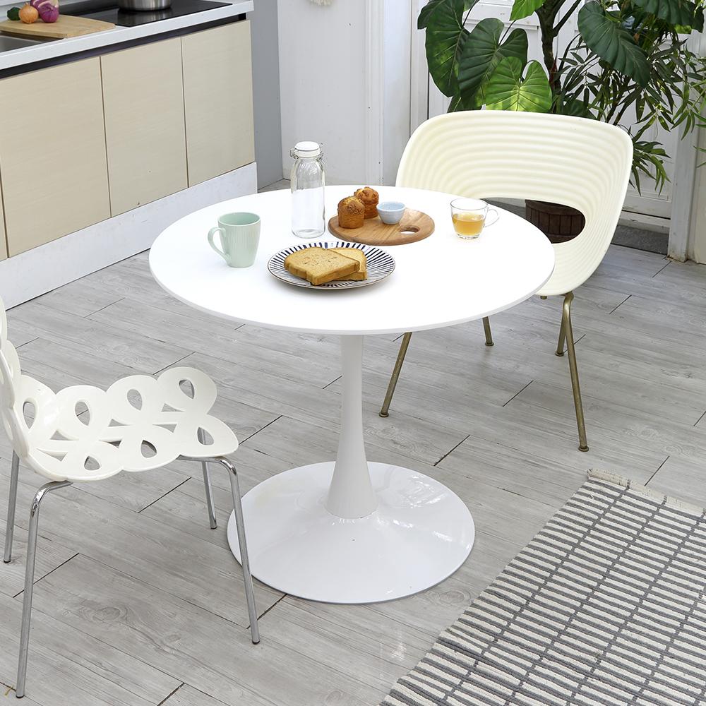 데코퍼니쳐 피렌체 원형 테이블 800  화이트베스트리빙 피렌체 4인 카페 테이블  코코아디홀릭 4인용 카페테이블 LPM  아카