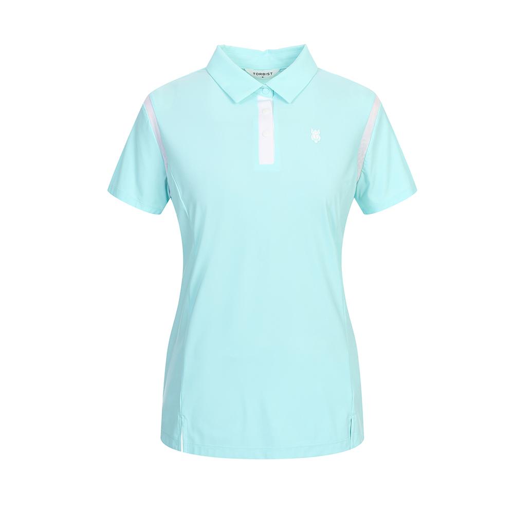톨비스트 여성용 에리 반팔 티셔츠 GABU4-WKE730