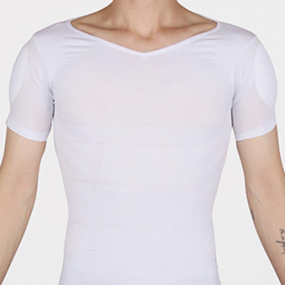 마른파이브 남성용 어깨뽕 뱃살 보정 속옷 이너 티셔츠