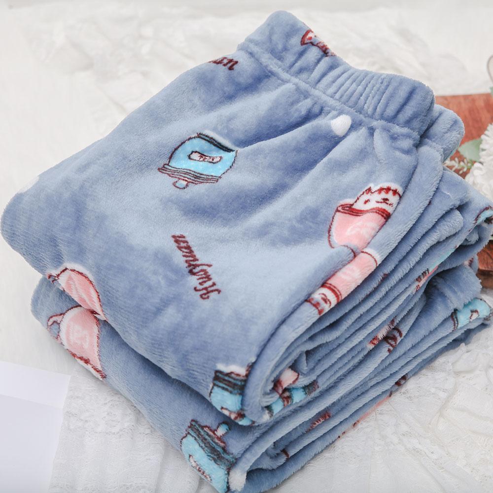 남성용 컵캣 인조밍크 수면잠옷 바지 2p
