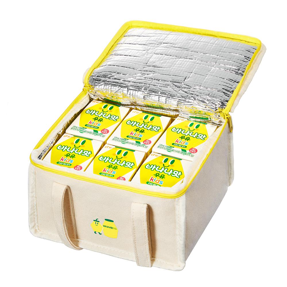 [Gold box] 빙그레 바나나맛 우유 kids 120ml x 12p + 보냉백 세트, 1세트 - 랭킹6위 (11000원)