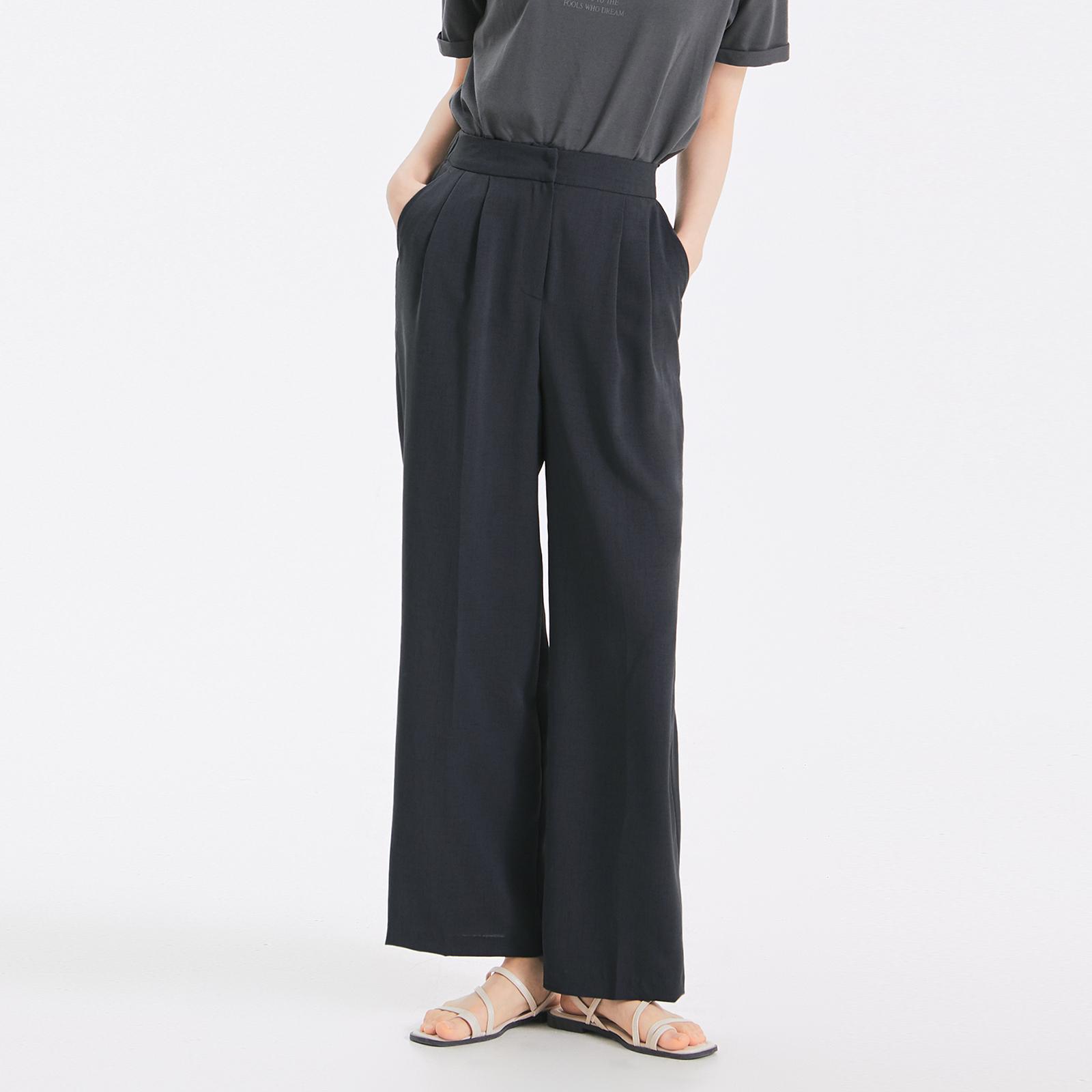 미쏘 여성용 10부 뒷밴딩 와이드 슬랙스