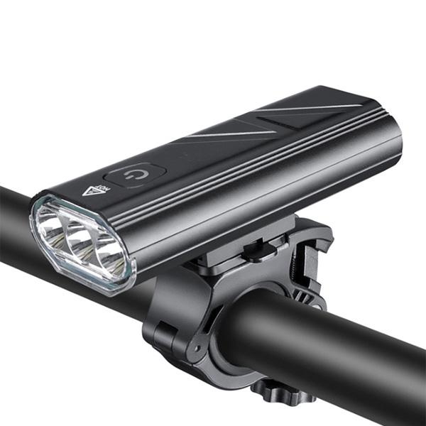 디빅 트리플 T6 LED 자전거 라이트, 블랙, 1개