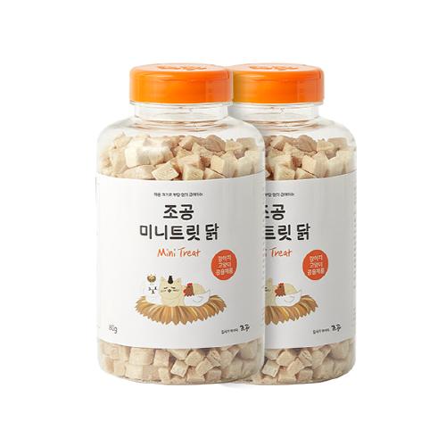 [트리트] 조공 미니트릿 반려동물 간식 80g, 닭, 2개 - 랭킹2위 (15500원)
