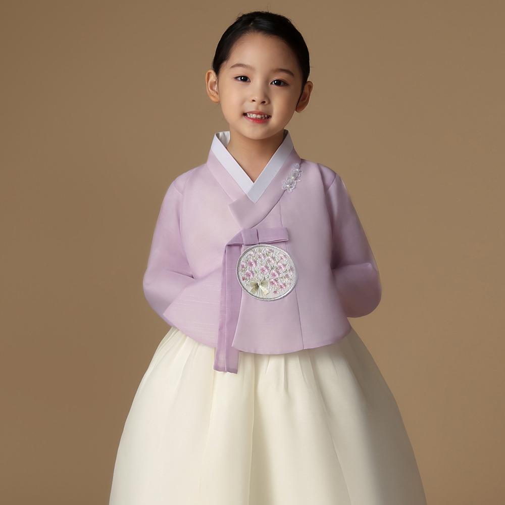 [한복] 금동이아가한복 여아용 여보라꽃보 아동한복세트 AW133 + 복주머니 - 랭킹1위 (39000원)
