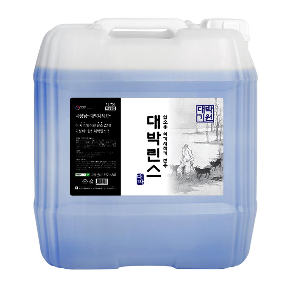 대박세제 대용량 식기세척기 린스, 1개, 18.75L