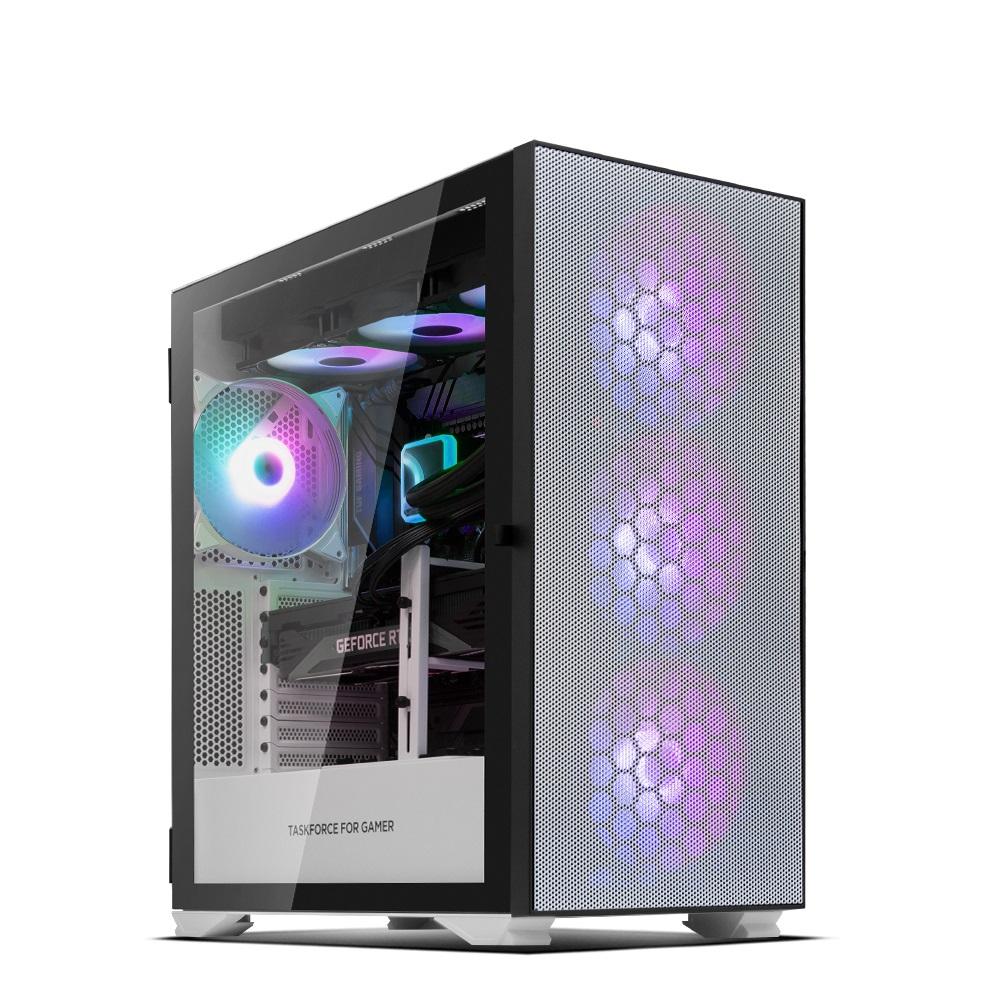 한성컴퓨터 게이밍 데스크탑 화이트 TFG DX5708RXT (라이젠7-5800X WIN미포함 RAM 32GB NVMe 512GB RTX 3080), 기본형