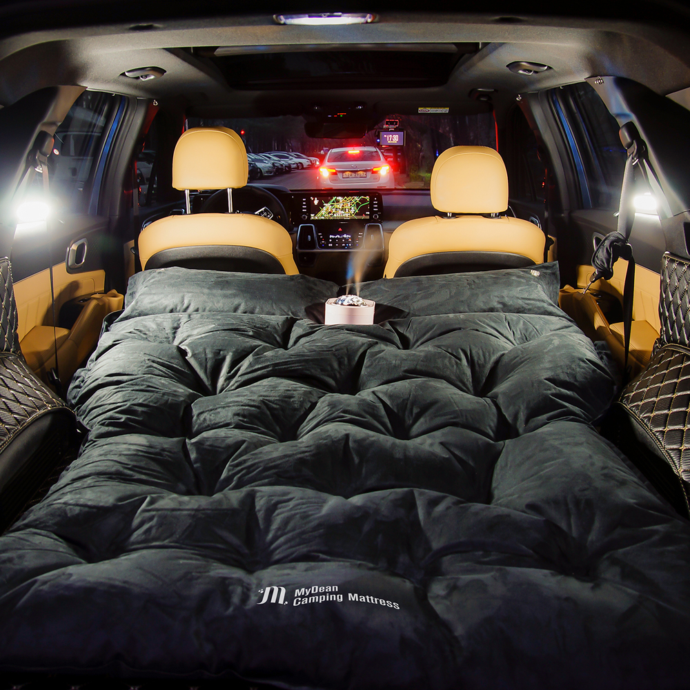 마이딘 차박 캠핑 스웨이드 자충매트 2인용 MCM-02, SUV, 블랙펄