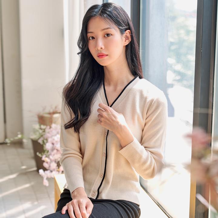 [배색가디건] 반에이크 여성용 디유 배색 가디건 - 랭킹4위 (21450원)