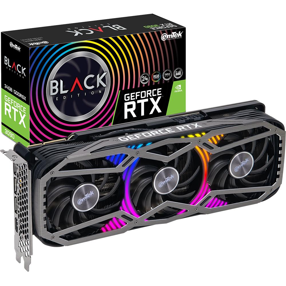 이엠텍 지포스 그래픽카드 RTX 3090 BLACK EDITION D6X 24GB