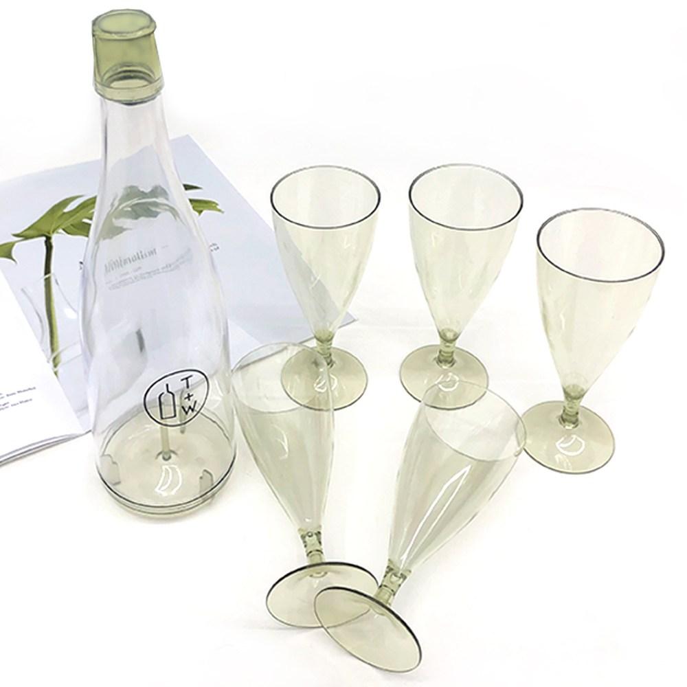 리틀래빗 캠핑용 와인컵 그린 5p