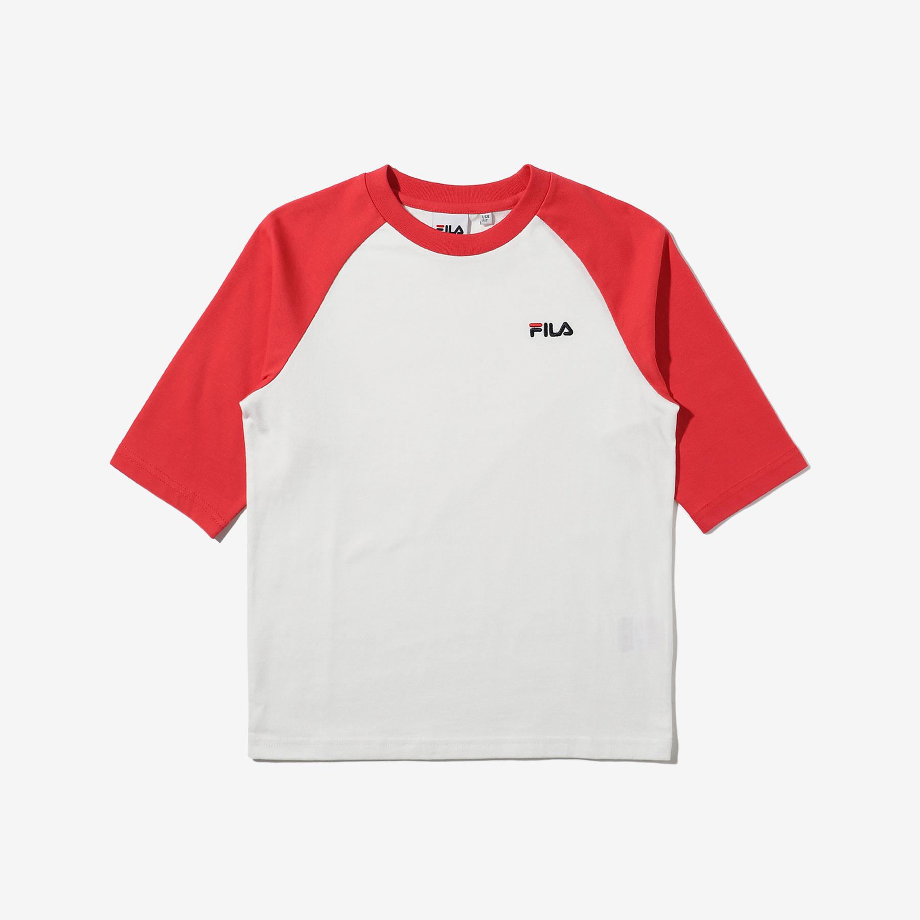 키즈 아동용 7부 라글란 반팔 티셔츠 FK2RSD2402X