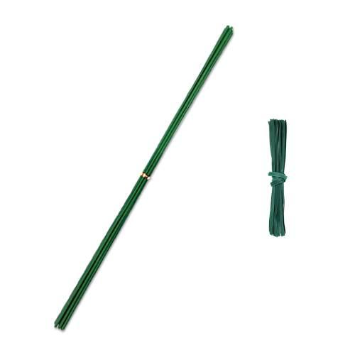 코팅 식물 지지대 세트 5mm x 110cm, 12세트 (POP 4577621252)