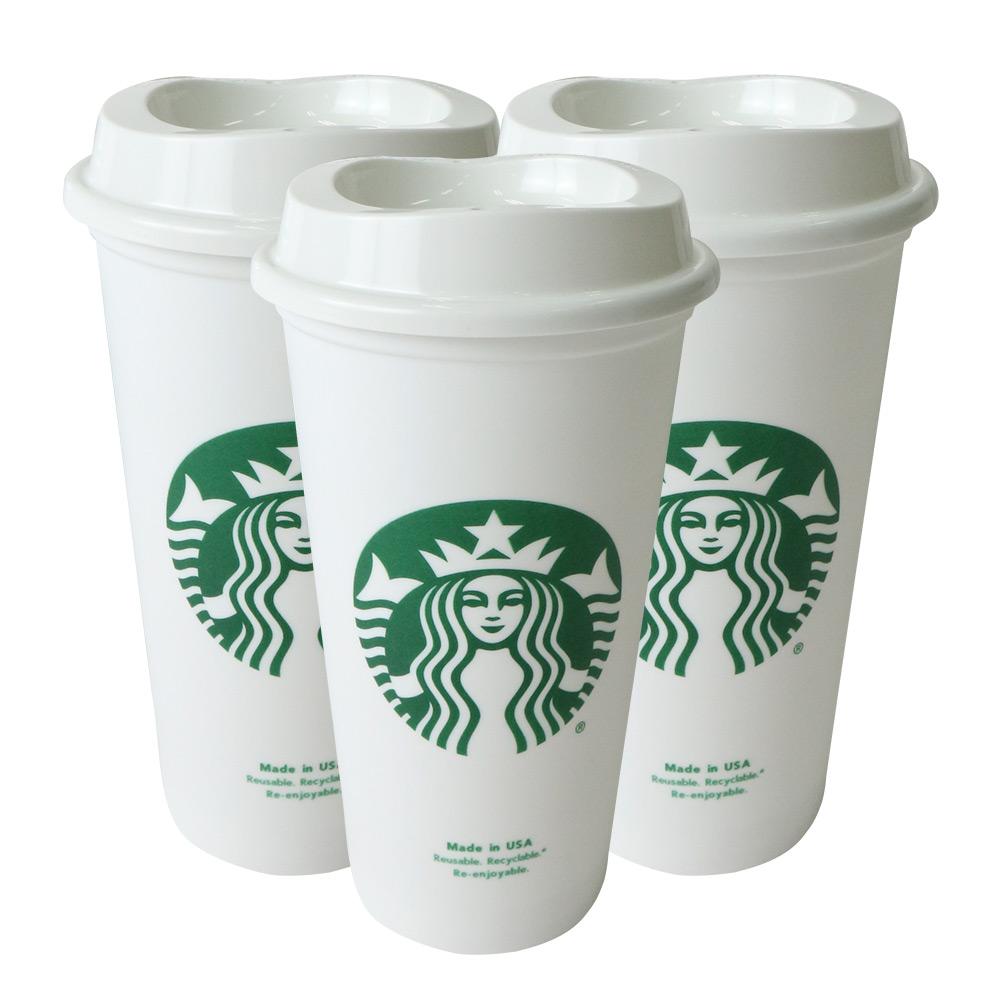 스타벅스 선물 답례품 리유저블 텀블러 3p + 컵홀더 3p 세트, 화이트, 473ml