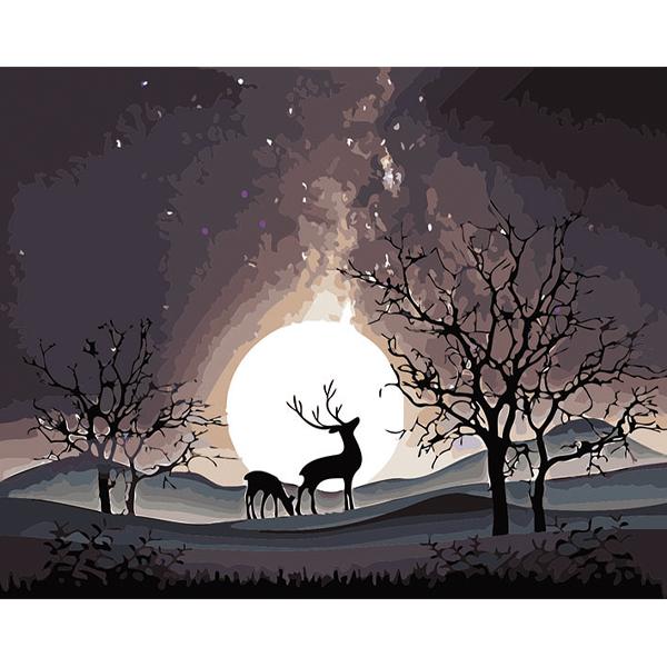 투코비 DIY 명화그리기 세트 가로형 40 x 50 cm, 사슴의 꿈 (5326)