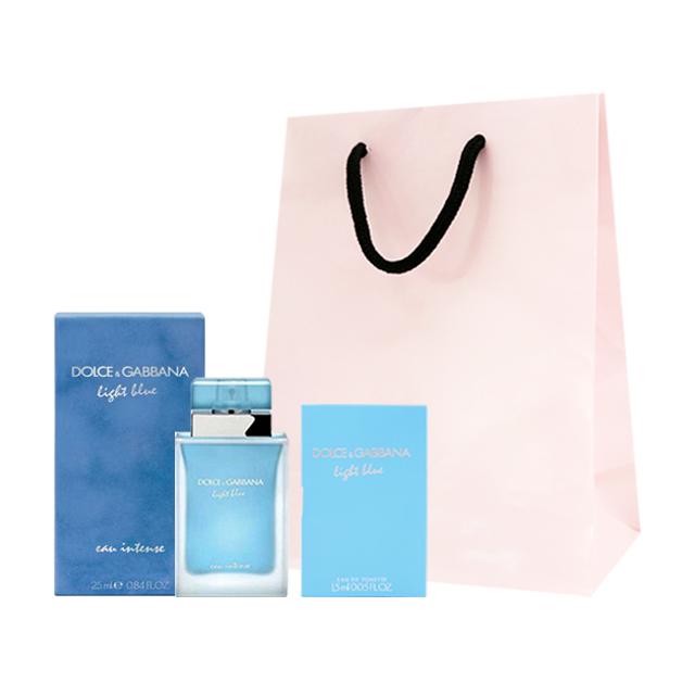 [고체향수] 돌체앤가바나 라이트 블루 오 인텐스 EDP 25ml + 스틱 향수 랜덤발송 + 쇼핑백, 1세트 - 랭킹52위 (75680원)
