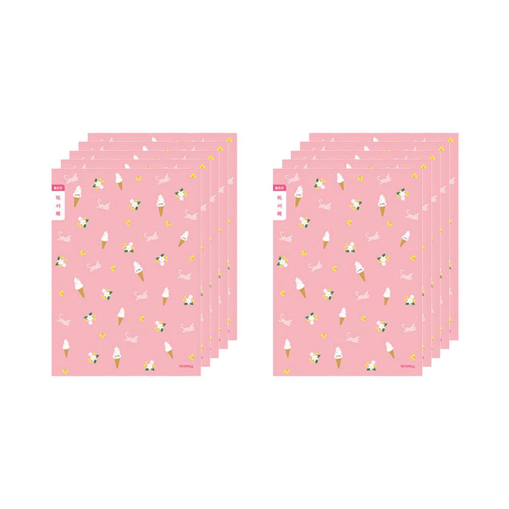 아이비스 여아용 초등3-6 독서록 좁은칸 노트 아이스크림 10724, 혼합색상, 10개
